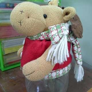 二手糖果罐紅色聖誕麋鹿購於特力屋高20cm罐子直徑10cm