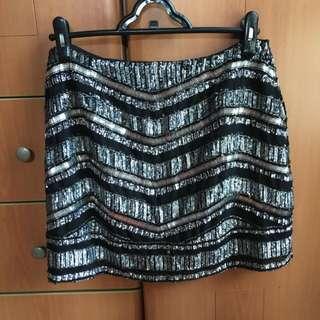 Forever New Sequin Bandage Skirt
