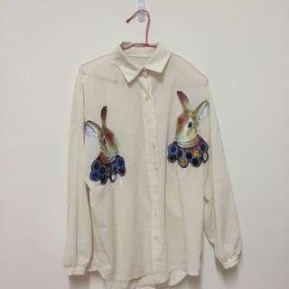 復古寬鬆襯衫(二手)