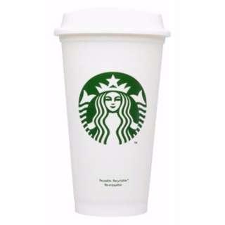 (剩一枚)【星巴克】Starbucks LOGO 塑膠隨行環保杯 16oz BPA free