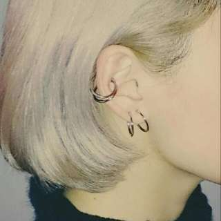 ◇金色圓環耳環◇夾式 歐美 Asos