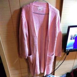 長版質感針織毛衣外套