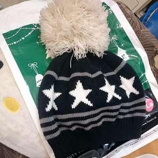 超大球球 星星毛帽
