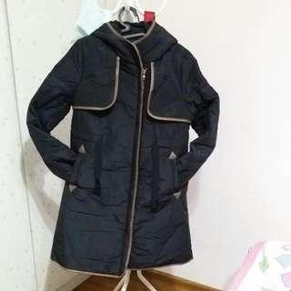 Korea Winter Hoodie Long Jacket
