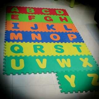 Alphabets puzzle mats