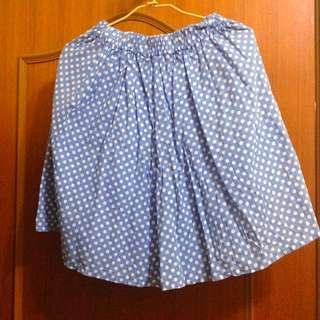 (二手) 點點可愛中長裙子