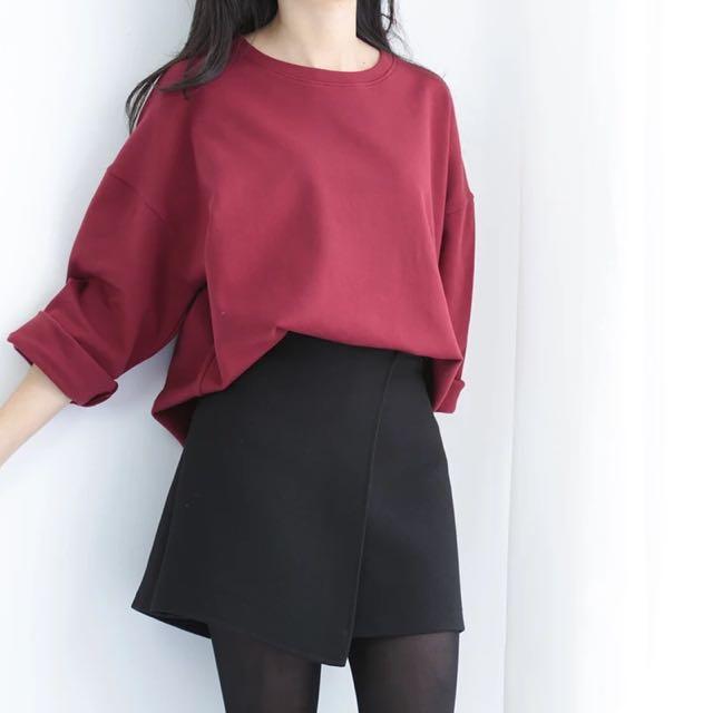 266預購 秋冬包臀裙顯瘦高腰A字裙