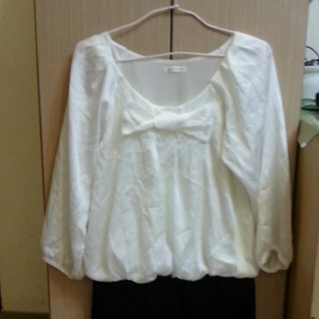 7分袖雪紡連身裙洋裝