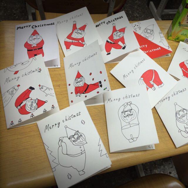 手繪卡片-聖誕