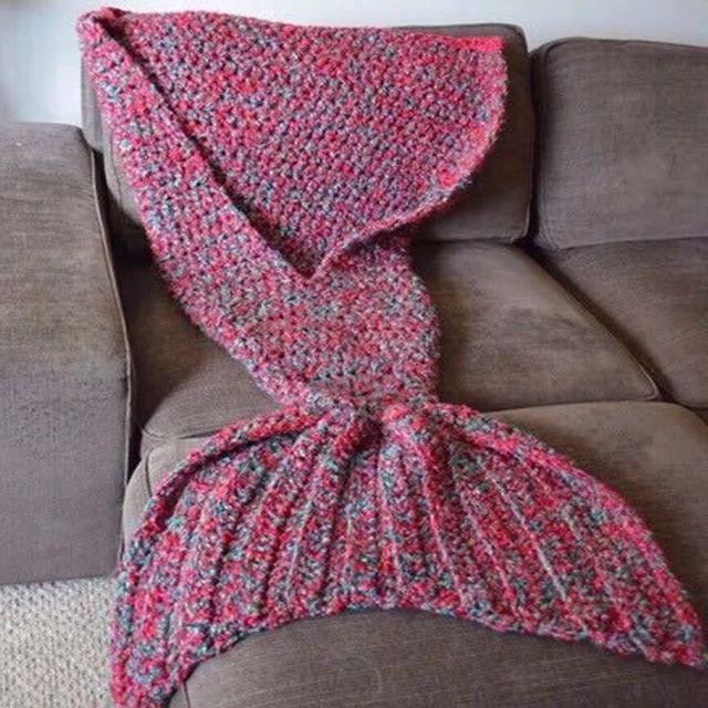 爆紅針織美人魚尾巴毯子毛毯
