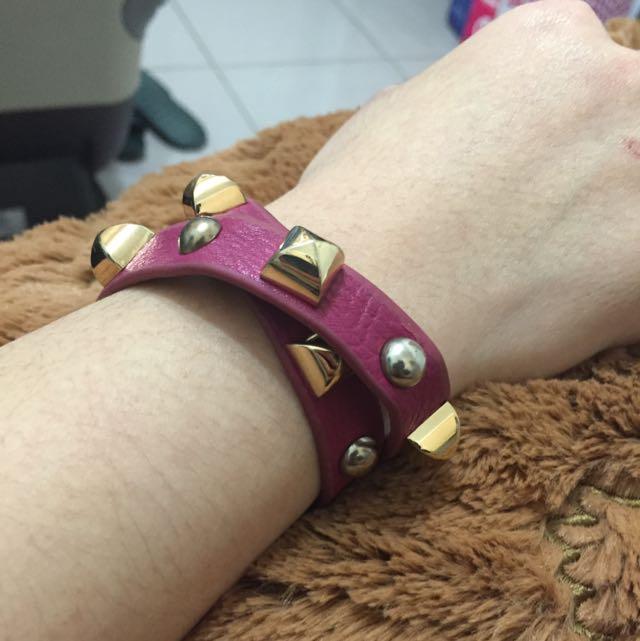 ✌️二手✌️龐克風皮革手環