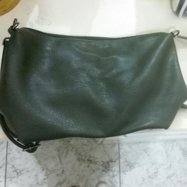 墨綠色水洗包包