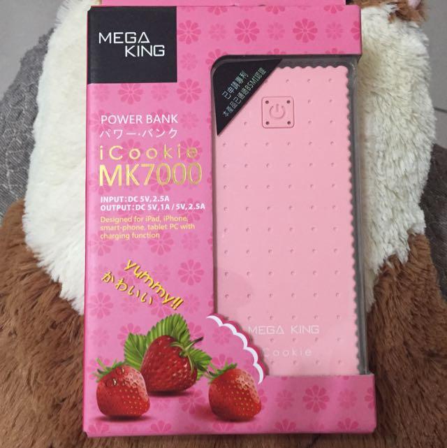 ✨全新✨ 4560mAh 行動電源 草莓餅乾造型 icookie 雙輸出