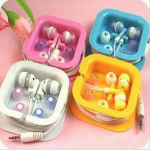 入耳式糖果色小方盒耳機 💋