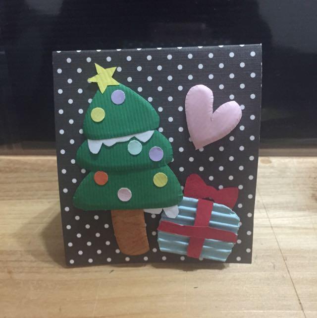現貨一張!一張!聖誕卡片 手工卡片🎄