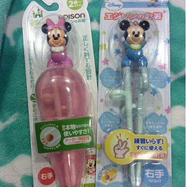 日本Edison原裝日貨 迪士尼學習筷
