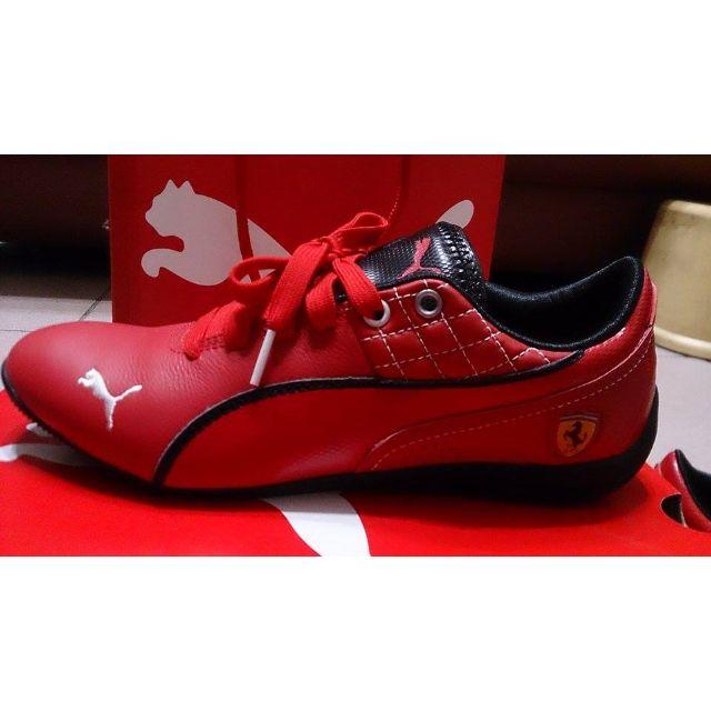 近全新 PUMA 皮革休閒鞋 運動鞋 跑步鞋 慢跑鞋 (非 Adidas NIKE PONY DC VANS ) 紅色 24cm <聖誕禮物 交換禮物 生日禮物>