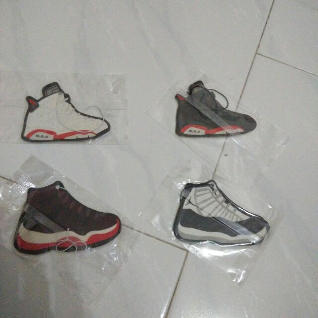 sports shoes ac244 5cb2c Air jordan jumpman aj11 aj6 breds concord infra red black white car bike  decal air freshener shoe