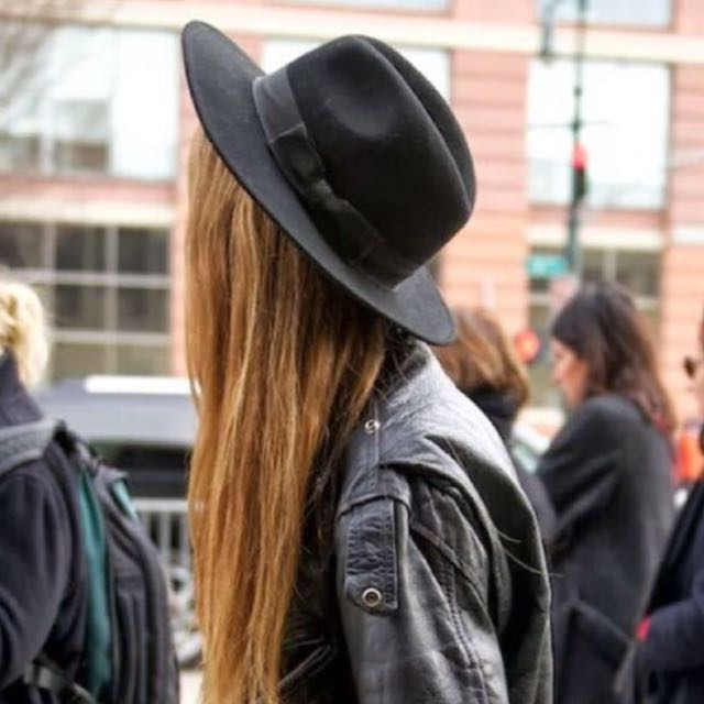 F21 Black Fedora Hat