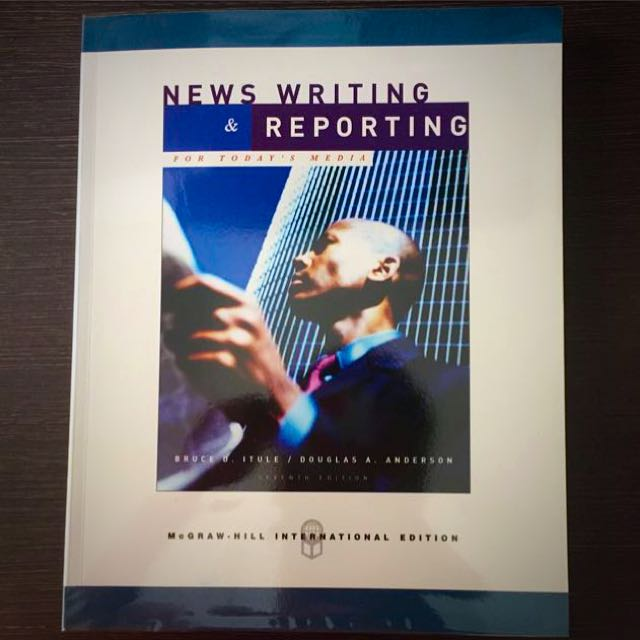 news writing and reporting textbooks