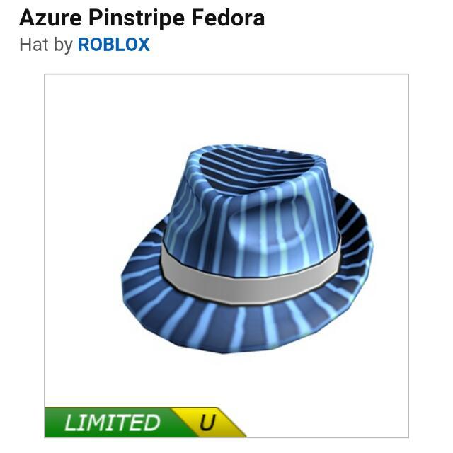 Roblox Azure pinstripe fedora c293bbdd3f4