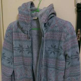 民族風灰色保暖外套