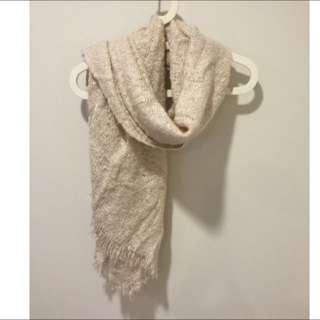 二手 Zara棉花糖粉色圍巾