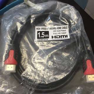 24k Gold HDMI Cable 1.5m