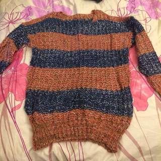 粗針織長版毛衣
