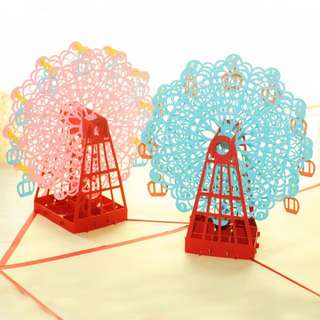 [INSTOCK] Ferris Wheel 3D Pop Up Card