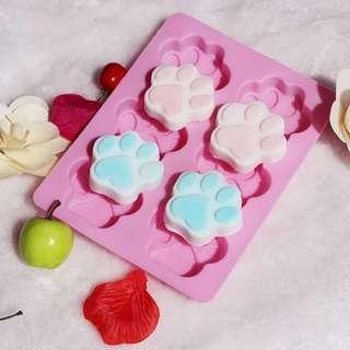 現貨, 六聯貓掌貓爪皂模 蛋糕模