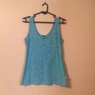 Sheer Blue Tank Top