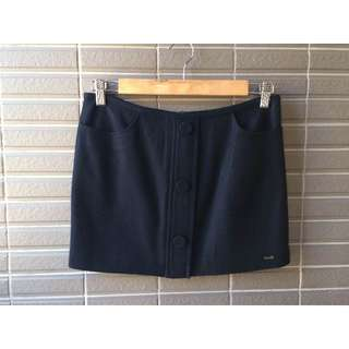 專櫃服飾IN  黑色毛料迷你短裙