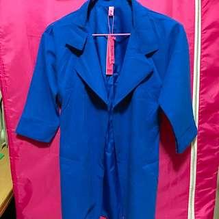 全新❤️ 藍色修身風衣