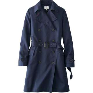 NWT WOMEN IDLF TRENCH COAT - NAVY