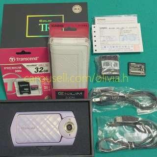 🎁全新 Casio TR60 自拍神器 紫色32G