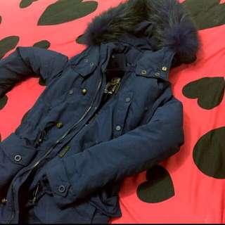 (待匯款)sly n3b藍色長版1號毛領軍裝外套