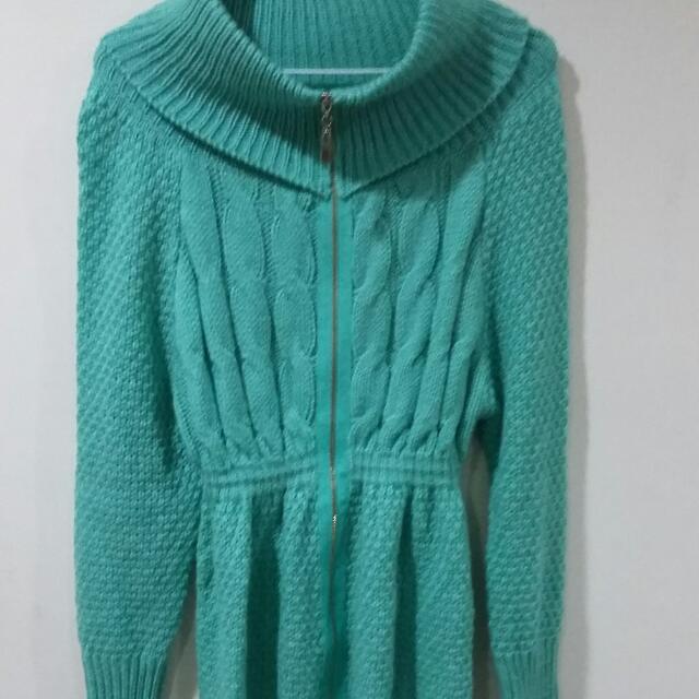 蒂芬妮綠針織外亦可當上衣洋