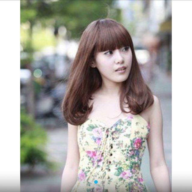 ✨降💋日韓甜美可愛梨花頭假髮