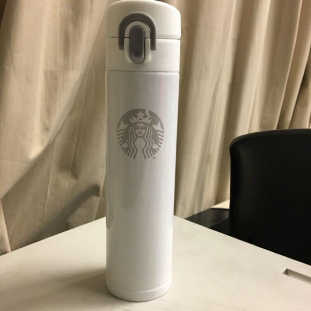 全新星巴克保溫瓶(白)
