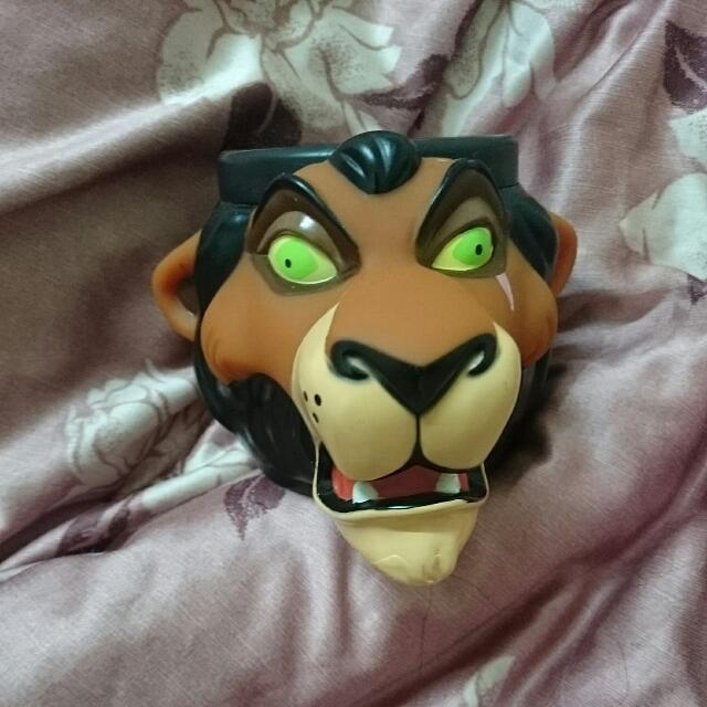迪士尼 獅子王 刀疤 立體 杯子