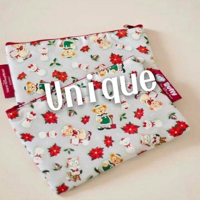 日本 達菲熊 雪莉玫 聖誕限定 化妝包 收納包