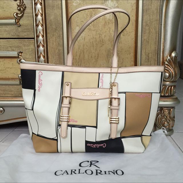 Authentic Carlo Rino Tote Handbag (Leather)