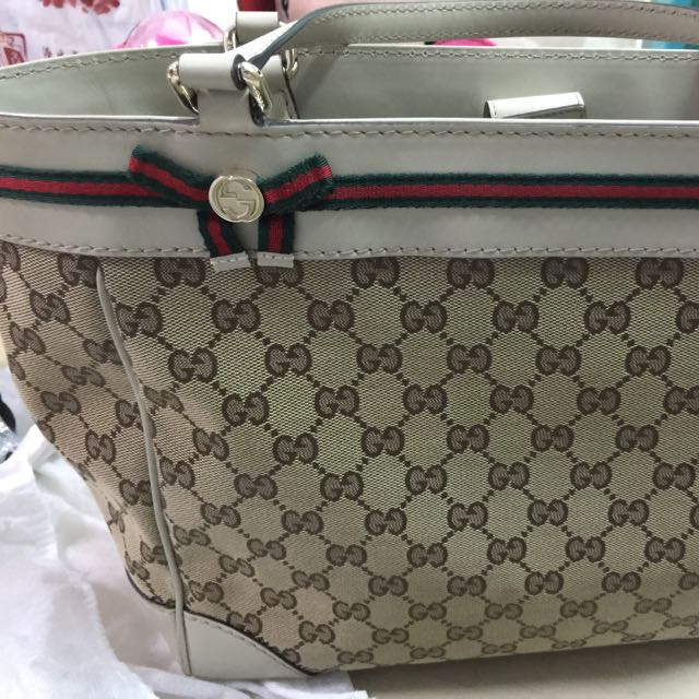 e3c018879f3a Gucci Mayfair Bow Detail Tote (pre-loved), Women's Fashion on Carousell