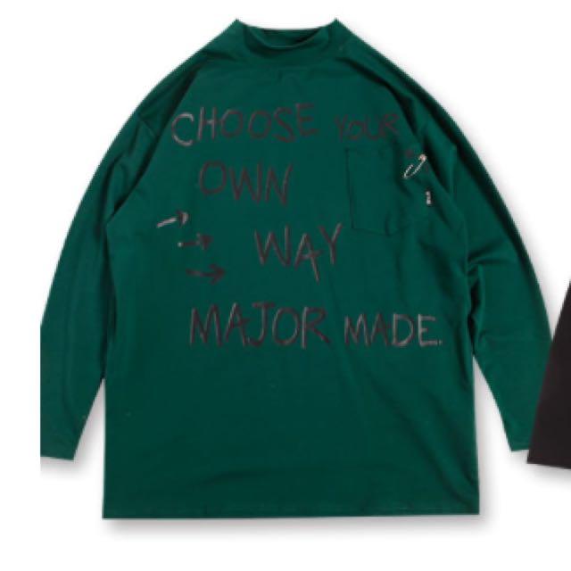 MAVIS小高領迴紋針印膠針織長版洋裝MJR Anu