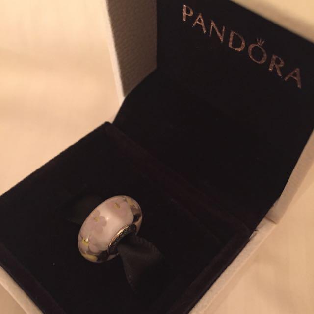 Pandora Flower Glass Charm