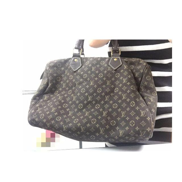 preloved louis vuitton ebene mini lin speedy 30 bag luxury on