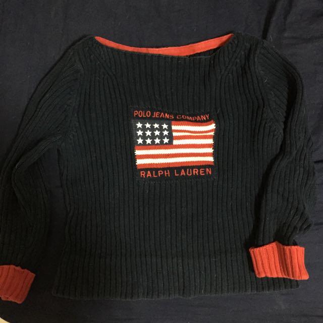 Ralph Lauren 短版寬針織衫 S號