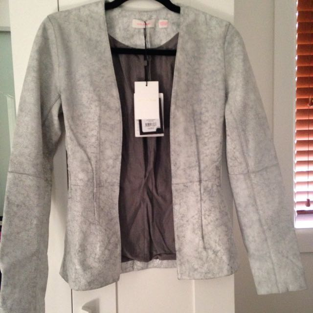 Sass And Bide Leather Jacket Size 6