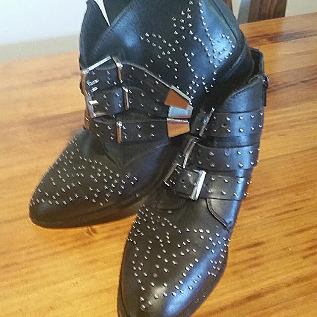 Studded Boho Street Boots Size 8